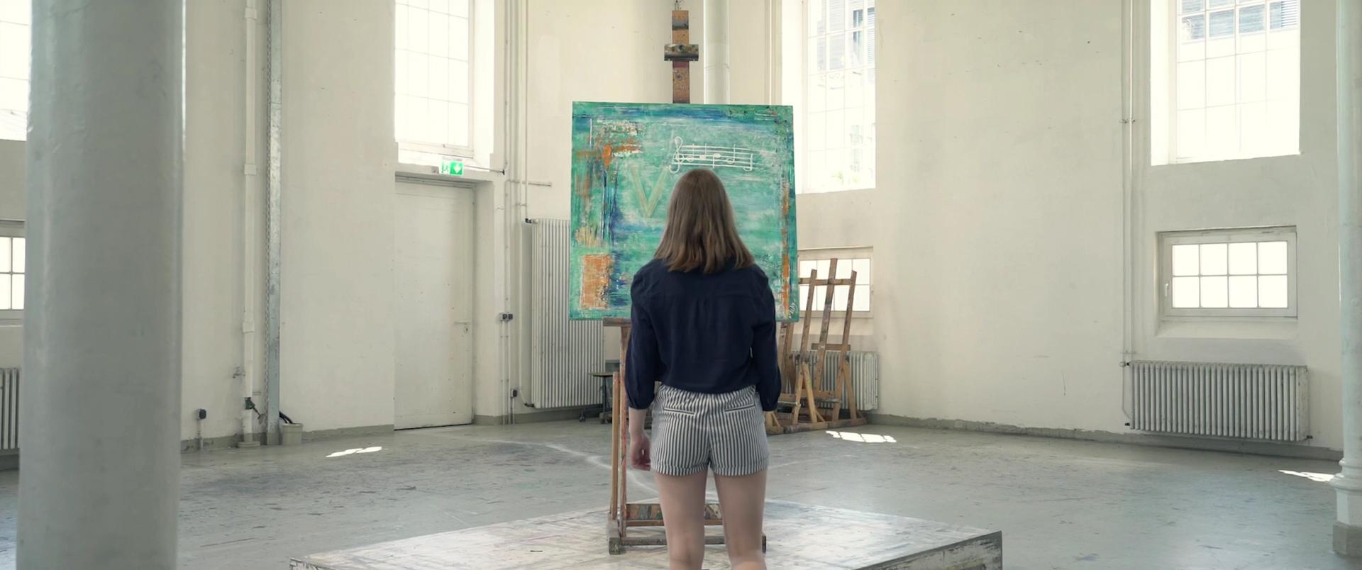"""Annette-Art-Gemälde für den Mystery-Film """"QVIS I"""""""